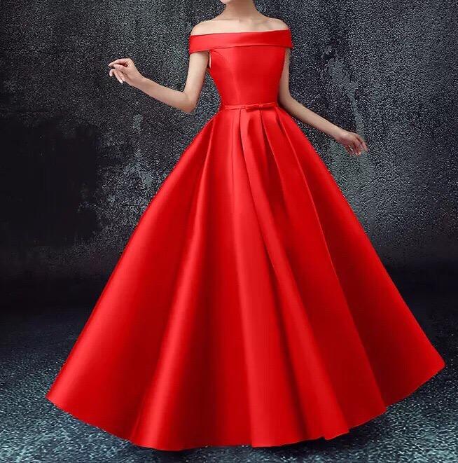 прокат красного атласного платья екатеринбург
