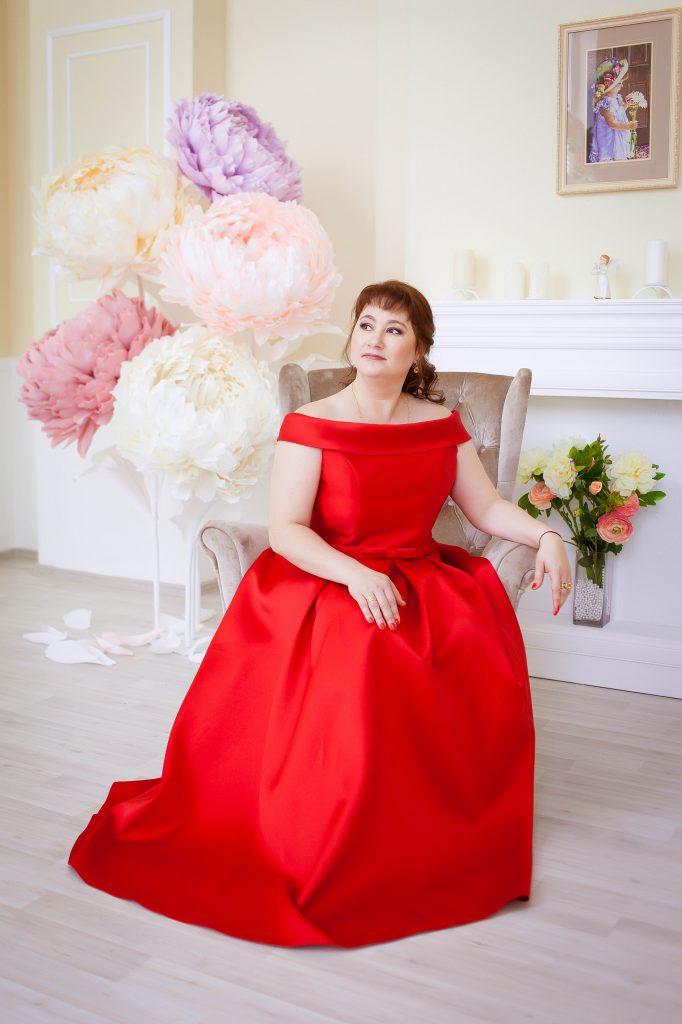 красное платье больших размеров напрокат